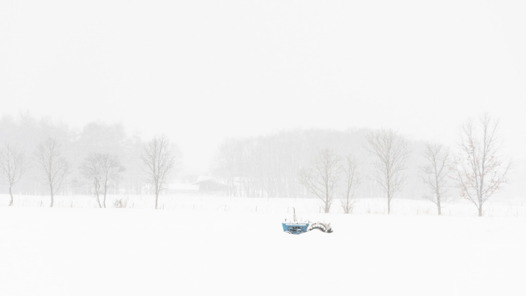 Farmlands in Hokkaido,  sleeping under a fresh snowfall - Japan