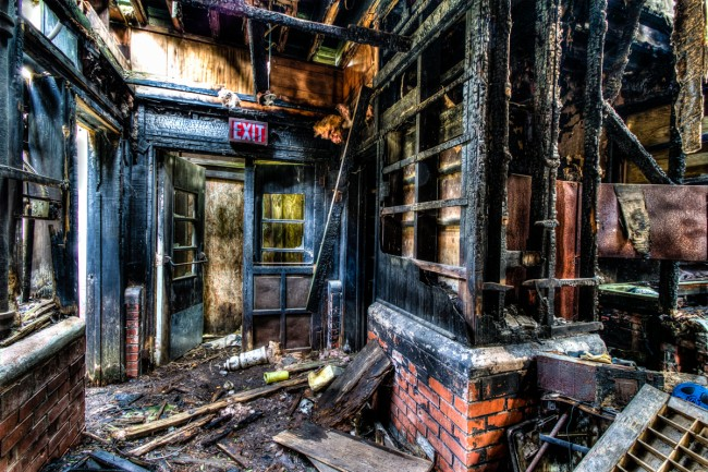Fire Ravaged School