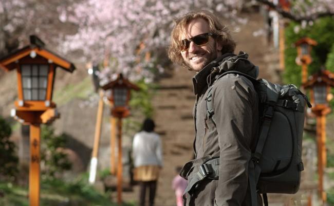 Elia Locardi taking pictures in Japan.