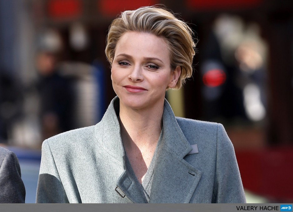 Princess Charlene of Monaco arrives for the inauguration of a coffee shop company store, on December 4, 2013 in Monaco.