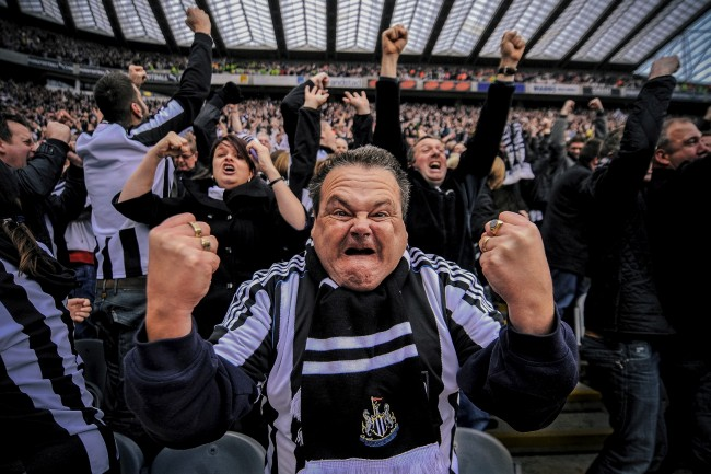 during the Barclays Premier League match between Newcastle United and Sunderland at St James' Park on October 31, 2010 in Newcastle upon Tyne, England.