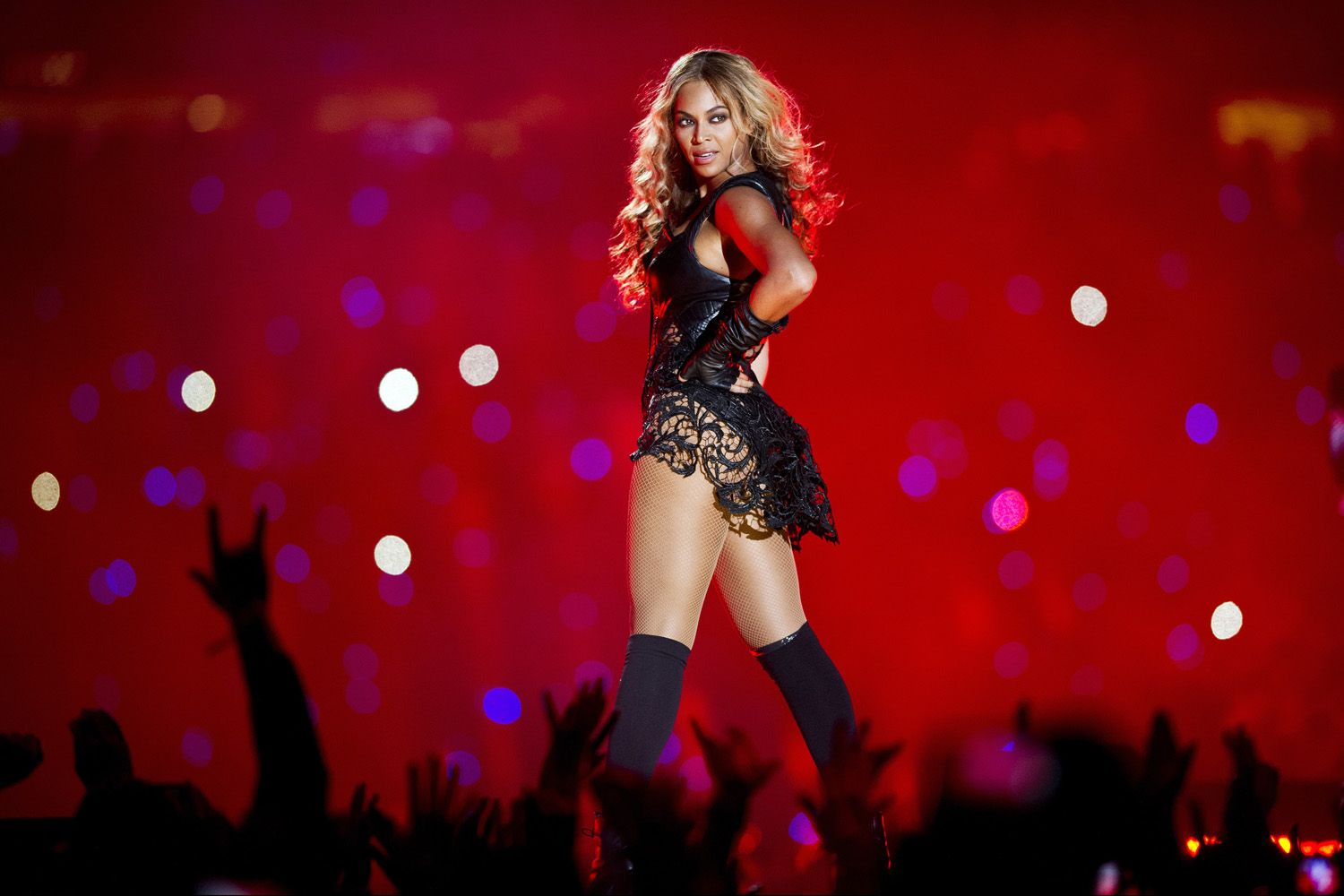 Beyonce, Half-Time Super Bowl Show, New Orleans, USA.