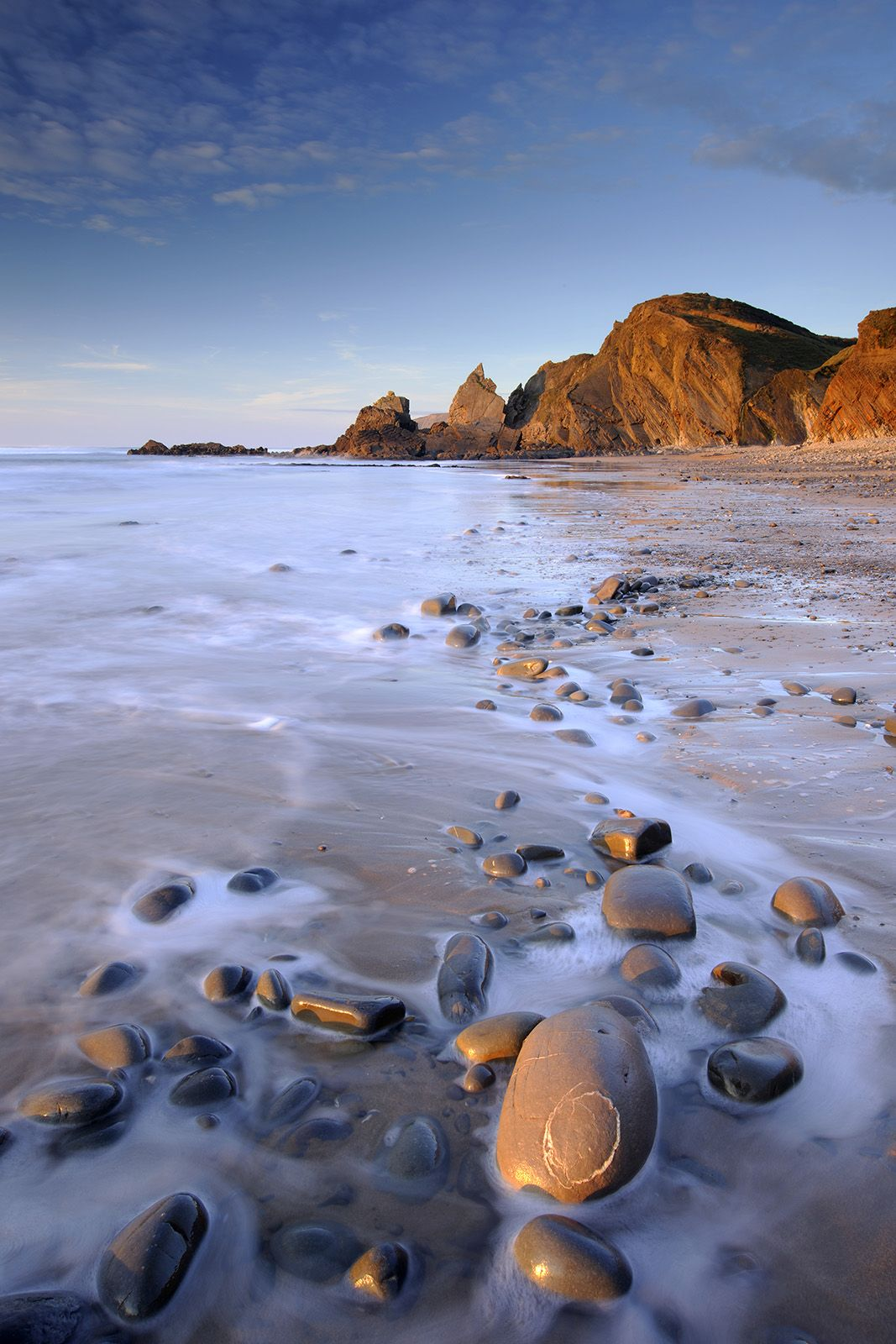 Sandymouth bay, north Cornwall, UK. January 09.