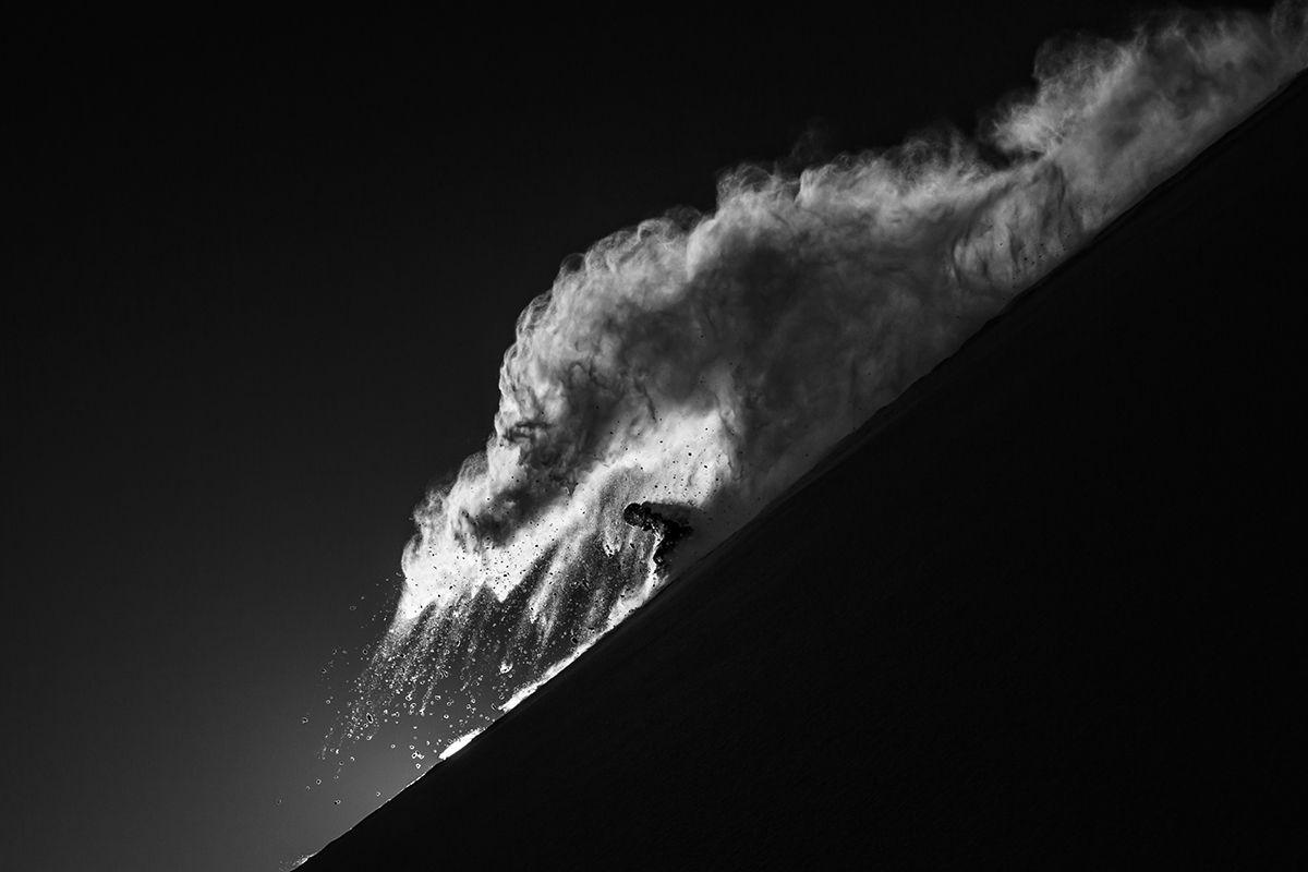 Adam Chuntz comes down the mountain