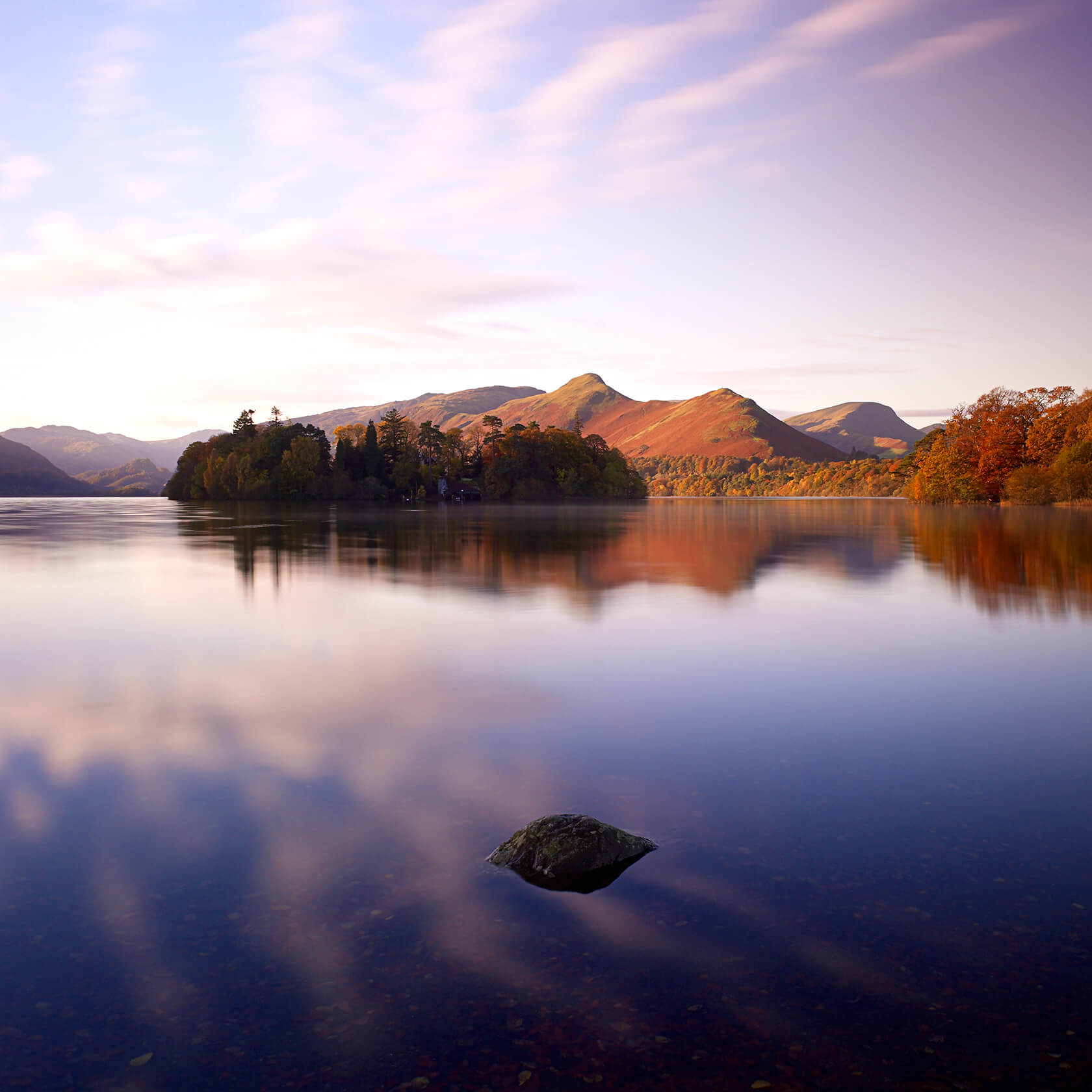 Steve Gosling Autumn Dawn Derwent Water