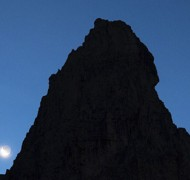 Moonset in the Dolomites