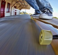 Skateboard at speed