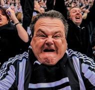 Newcastle football fans celebrate