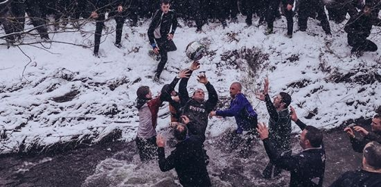 Enthusiasts Participate In The Royal Shrovetide Football