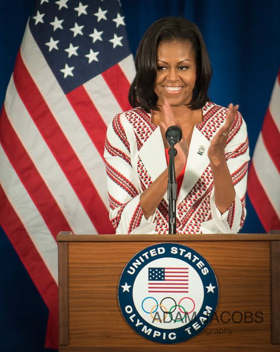 First Lady Michelle Obama Greets Members of the 2012 Team USA